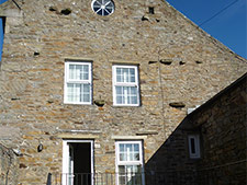 Rear of Half Moon House holiday cottage in reeth