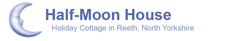 half moon house holiday cottage in reeth, north yorkshire. This is the main logo showing a half moon crescent