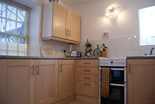 kitchen of the holiday cottage in north yorkshire